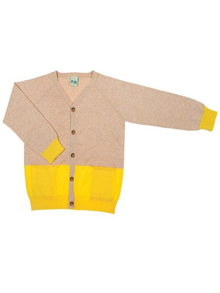 Soft knitted v-neck cardigan made of the finest eco-cotton.