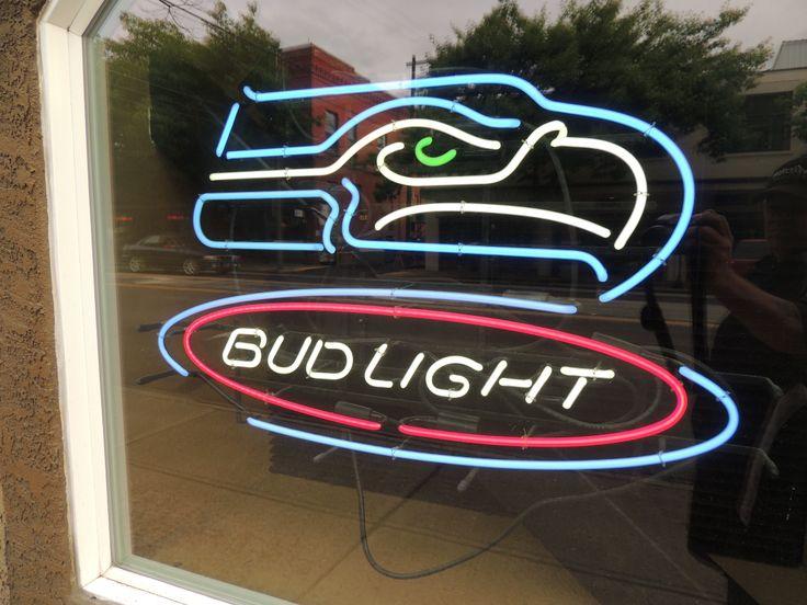 Neon Beer Sign Seattle Seahawks Bud Light Nfl Neon