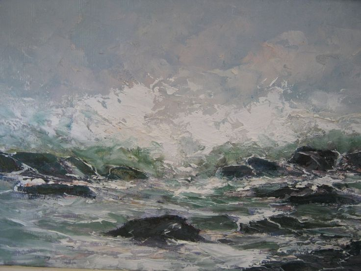 Rough tide R5500 Oil on canvas board