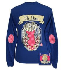 Girlie Girl Originals Collection Preppy Oh Deer Country Long Sleeve T-   SimplyCuteTees