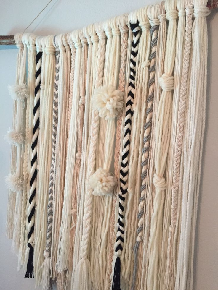 Best 25 yarn wall hanging ideas on pinterest yarn wall art macrame wall hanging diy and diy - Diy wall decorations ...