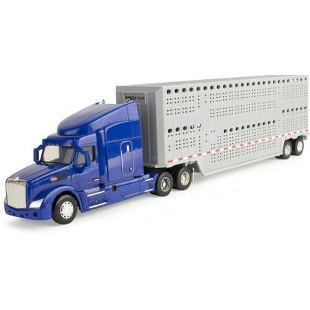 ERTL Big Farm 1:32 Peterbilt Model 579 Semi with Livestock Trailer - Walmart.com