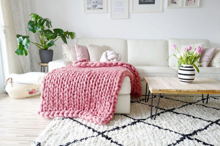 DIY Chunky Knit Decke – Video Tutorial