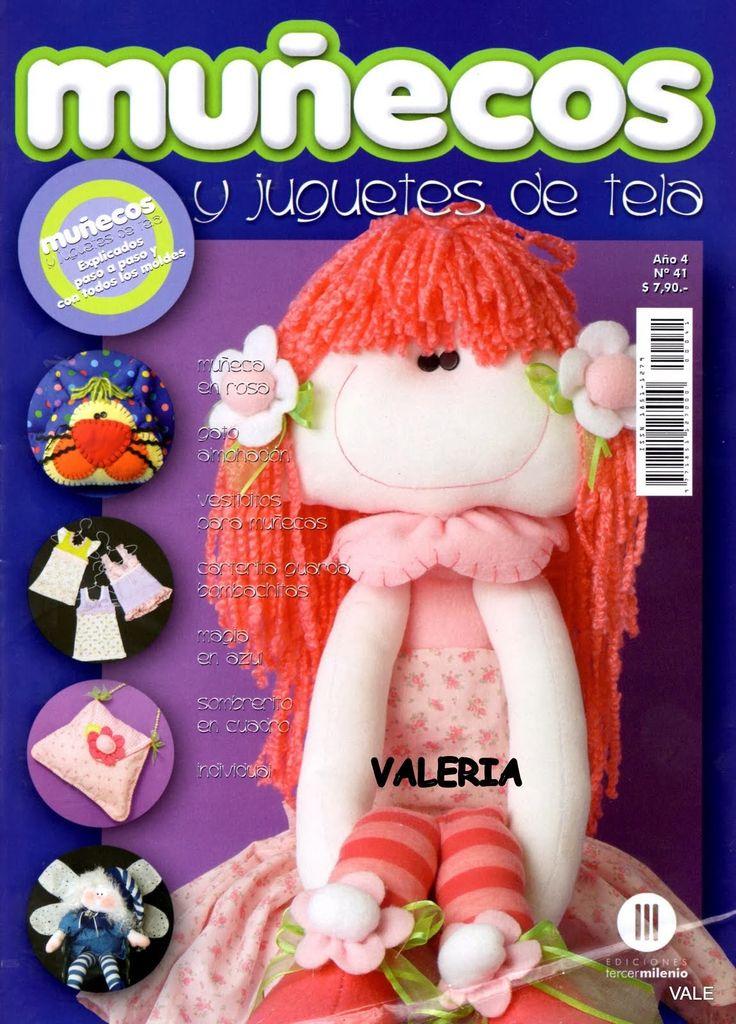 Revistas de manualidades Gratis: Paso a paso muñecos y juguetes de tela
