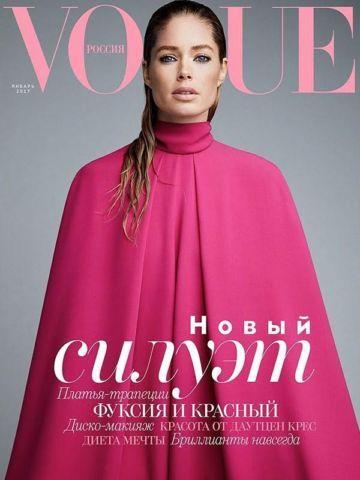 Doutzen Kroes fotografiada por Patrick Demarchelier para la revista Vogue Rusia de enero 2017 https://shar.es/1D1bYT #Belleza #Holanda