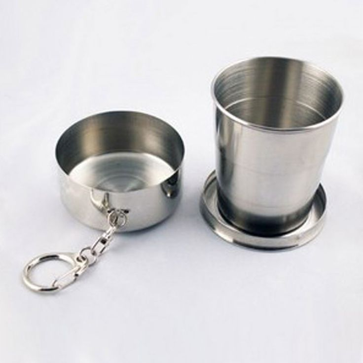 Outdoor Portable 4-Section Stainless Steel Retractable & Foldable Cup (DK-SB03)