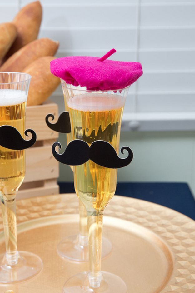 French Cafe Bebe Shower berets on glasses