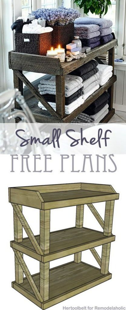 8 DIY Small Open Shelf