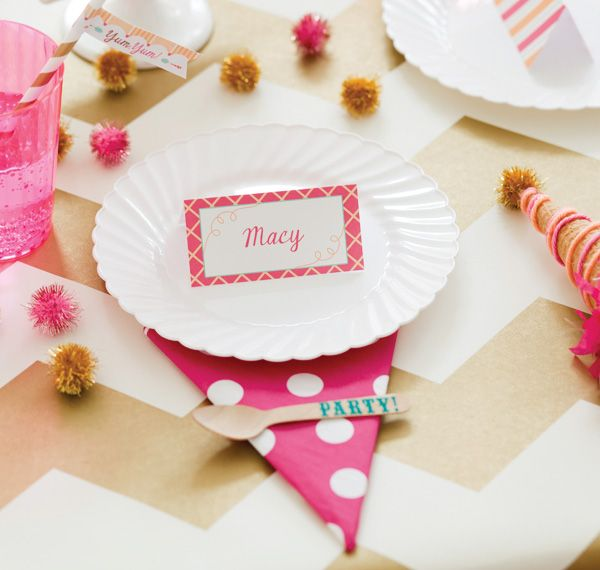 Ice Cream Shoppe Birthday Party Theme for Pottery Barn Kids {+ Free Printables!} Kids Place Setting Idea! #IceCream #IceCreamParty #HWTM @Pottery Barn Kids