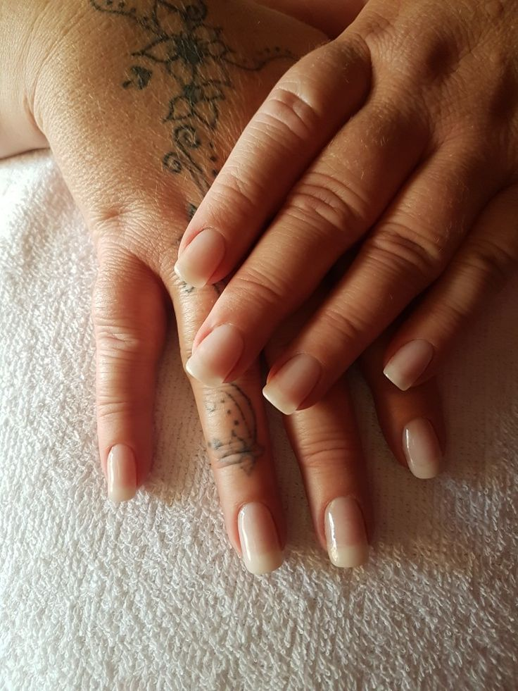 My own natural nails with an overlay