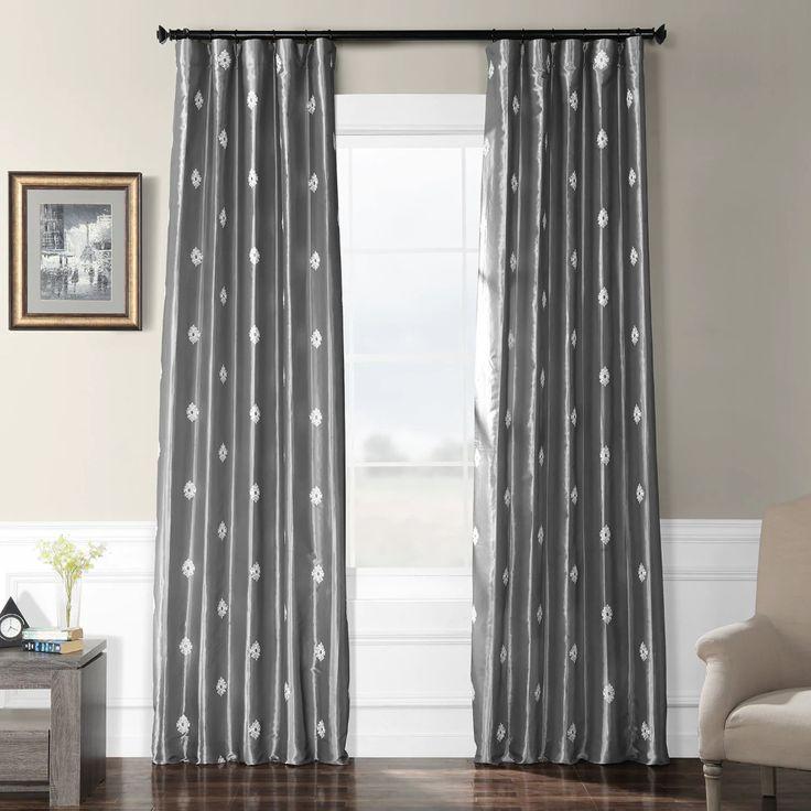Trophy Platinum Grey Designer Embroidered Curtain