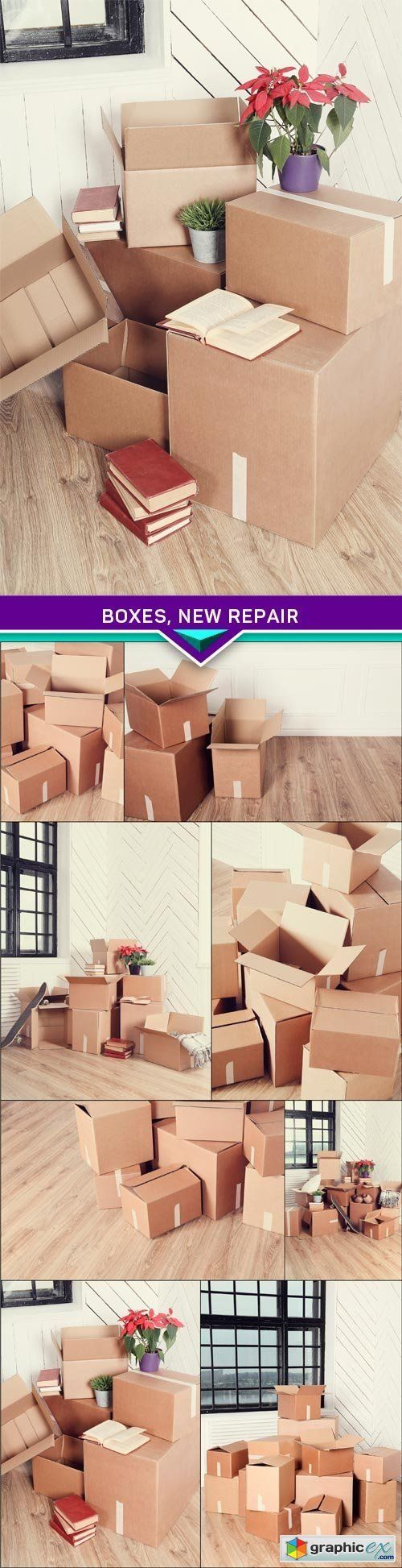 Boxes new repair 8 x JPEG  stock images