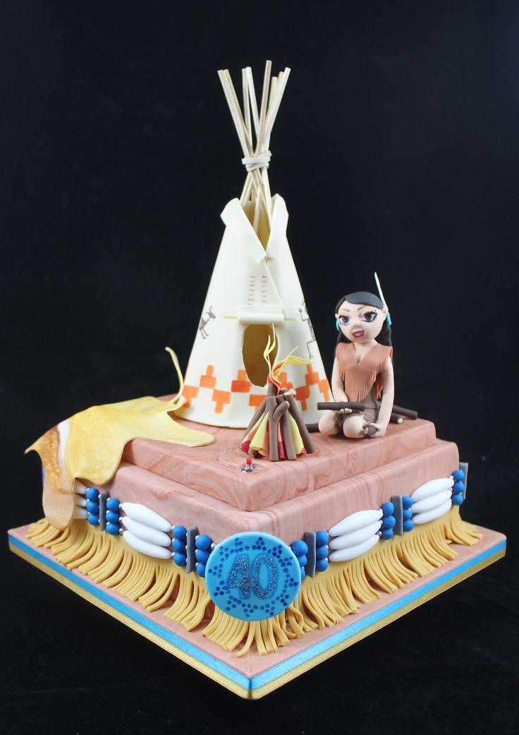 American Indian cakes  Native American cake design teepee