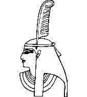 Üvegmatrica minta : Maat/Egyiptom, Vallás