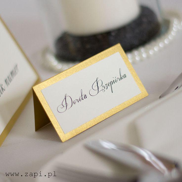 złota winietka ślubna wykonana na wysokiej jakości papierze dekoracyjnym