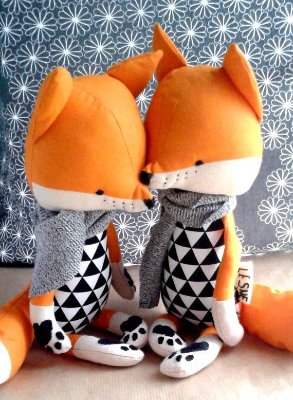 LOIC the fox. made-to-order. eco toy. gift for children. by LESNE