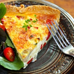 Leek and mushroom quiche - A basic quiche recipe, to change up with ...
