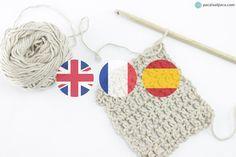 Diccionario Punto Ingles Frances Español. Glosario de terminos de punto y crochet en ingles y frances traducidos a español #knitting #tejer #crochet #tricot