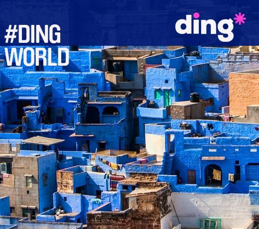 #dingworld A picture of a stunningly decorated town in Jodhpur in India where the locals represent the colour of life in all aspects of their lives including their homes. www.ding.com