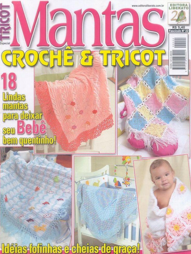 Receita Tricô Fácil   Revista Online TRICOT Mantas Crochê e Tricô   18 Lindas mantas para deixar seu bebê bem quentinho   Ideias fofinha...