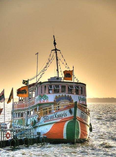 Tourists boat at Belém-PA, Brazil by Marcelo Mesquita.