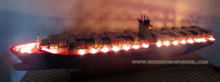 Emma Maersk Container Ship Model with Lights