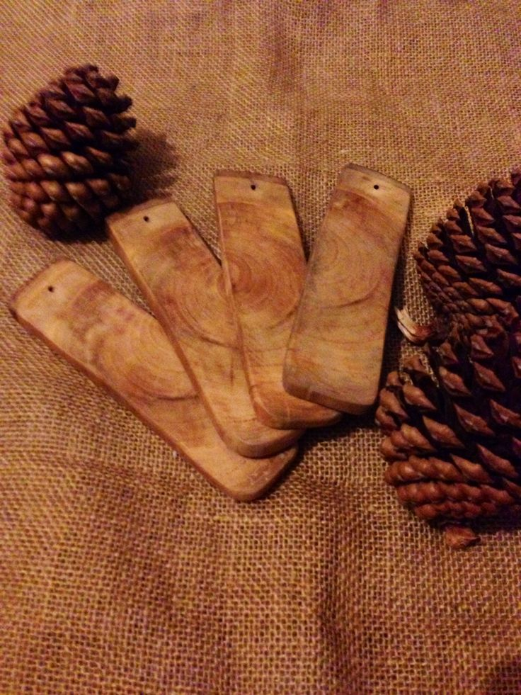 Incense holders out of cherry wood