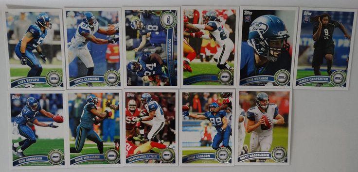 2011 Topps Seattle Seahawks Team Set of 11 Football Cards #SeattleSeahawks