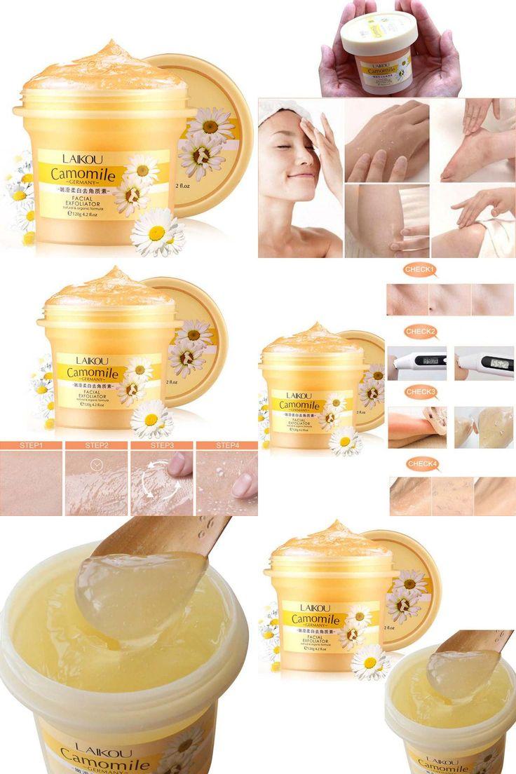 [Visit to Buy] Facial Cleanser Natural Organic Facial Exfoliator Exfoliating Cream Whitening Peeling Cream Gel Face Facial Scrub Removal 120g  #Advertisement