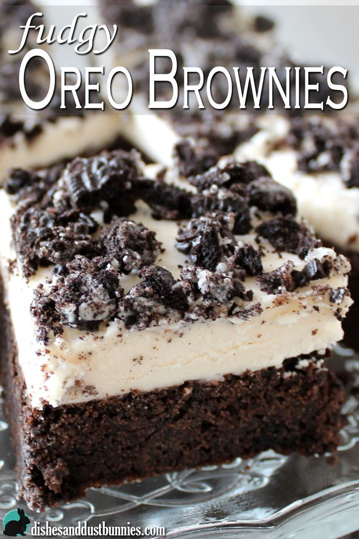 These oreo brownies are made with crushed Oreo cookies and topped with a homemade Oreo cream frosting! This makes for a deliciously chocolaty and fudgy brownie that just sooo hard to resist.