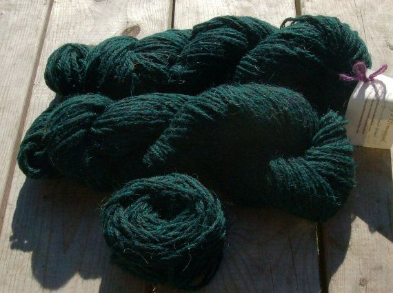 Handspun wool yarn North County Cheviot   by TheLindsaysHomestead
