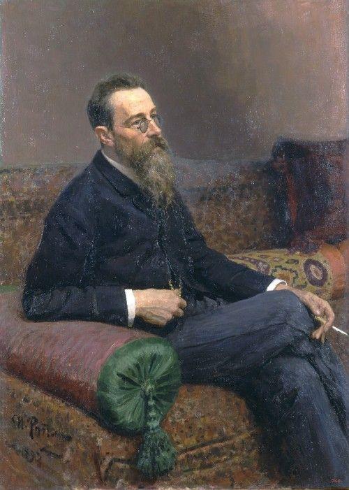 blastedheath:  Ilya Repin, Portrait of composer Nikolai Rimsky-Korsakov, 1893.