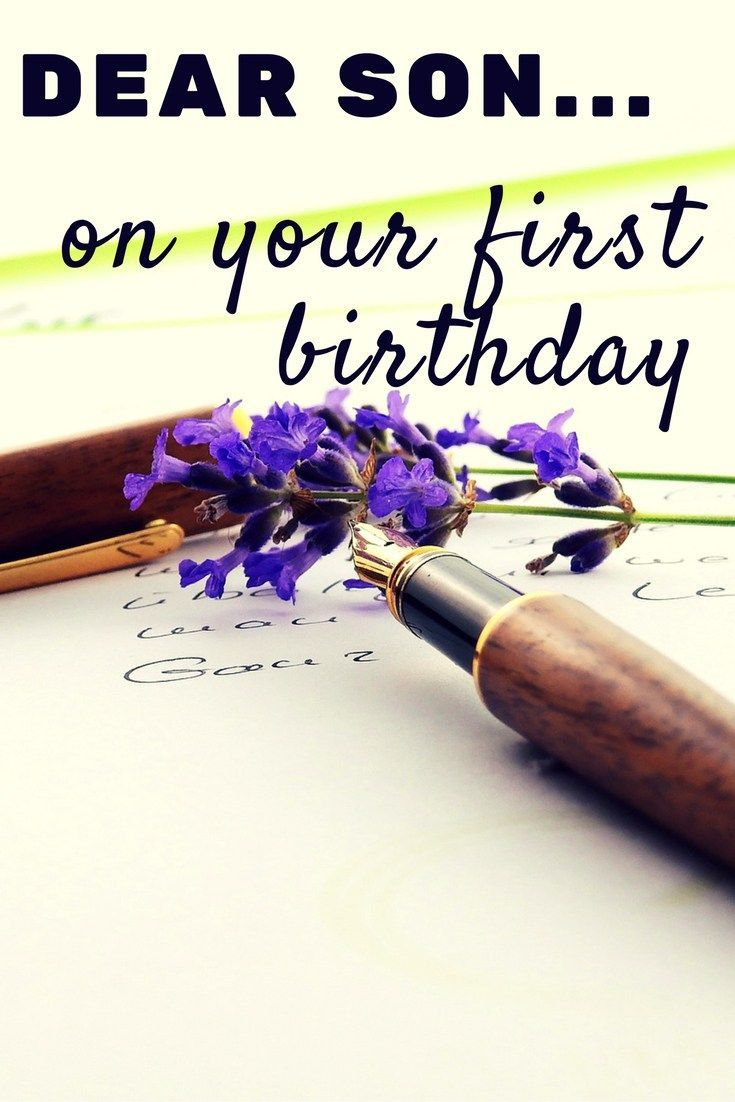 A Letter to My Son: On your first birthday