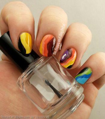 Nails inspired by a Doppler Radar map.  By Jessica W.