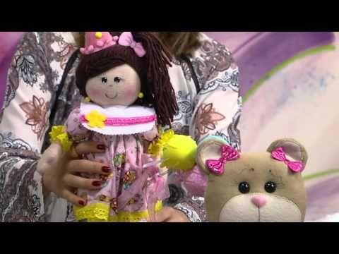 Mulher.com - 28/03/2016 - Boneca Maria festeira - Claudia Crestani - YouTube