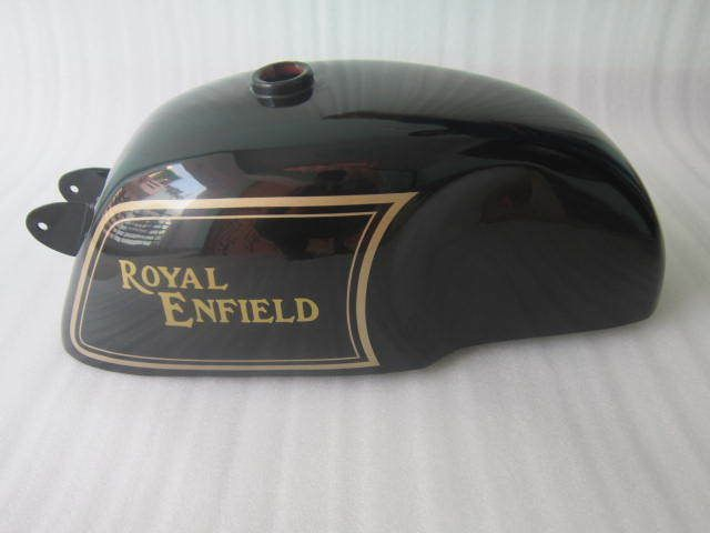 NEW ROYAL ENFIELD CAFE RACER BLACK PAINTED 4 GALLON PETROL TANK