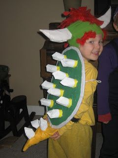 Tales of an EarthMama: How to make a Bowser costume