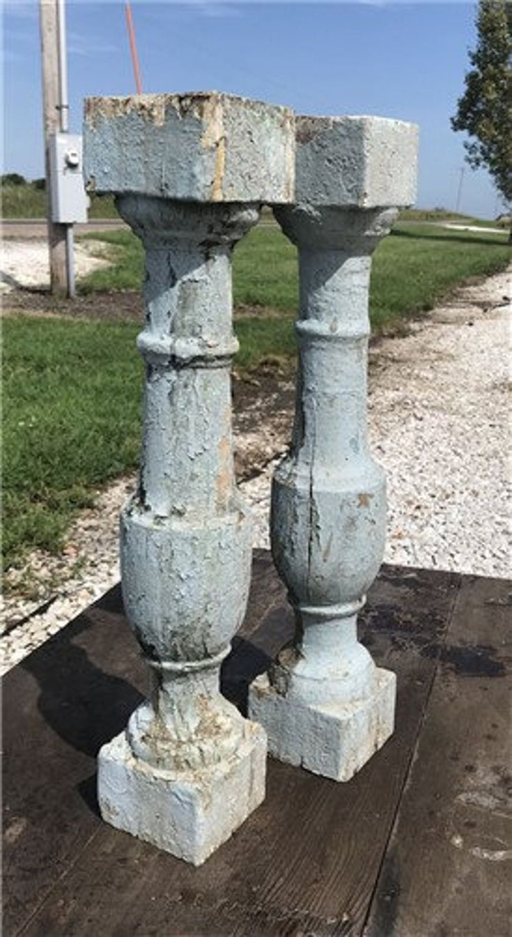 Best Large Antique Chunky Wood Balusters Spindles Porch Post 400 x 300
