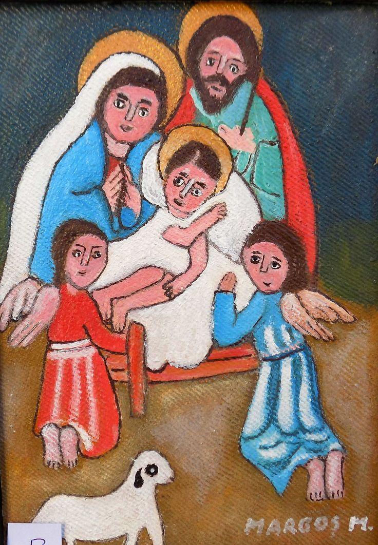 Pictura naiva | Familia Sfanta | Boutiq Art