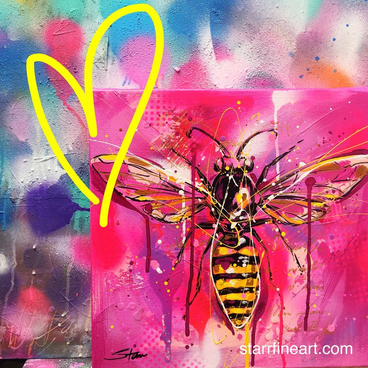 A bee study with POP ART edge . By STARR . www.starrfineart.com