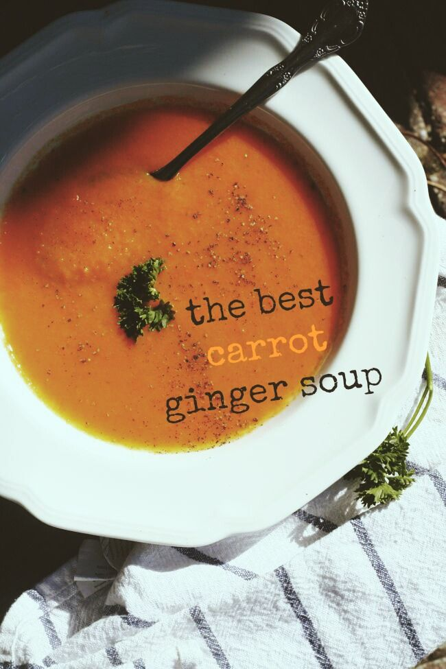 The Best Carrot Ginger Soup | The Best of this Life  #vegan #soup #dairyfree