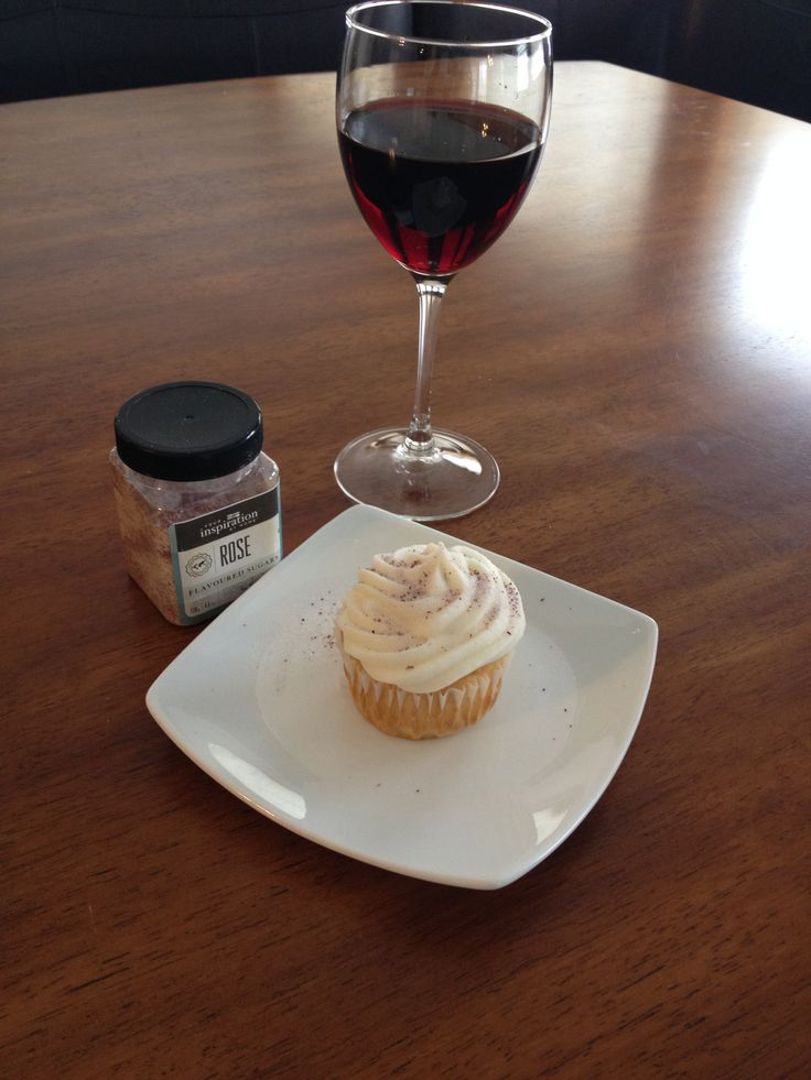 YIAH Rose flavored sugar dusted vanilla cupcake. Follow this and more of my recipes at www.facebook.com/YIAHchefshannon