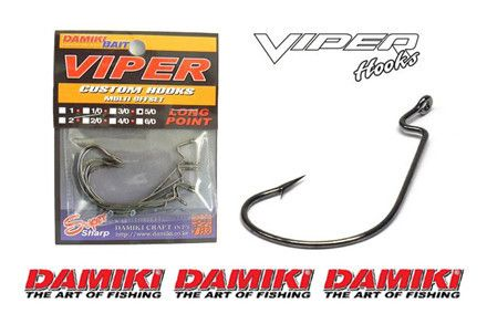 Damiki Viper Worm Hooks | Terminal Tackle by Damiki | Import Tackle - Import Tackle | Online Fishing Tackle Store
