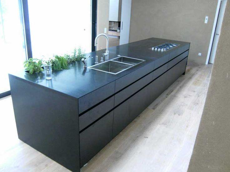 Haus bauen beispiele  Küchenarbeitsplatten stein münchen gestalten ideen für ...