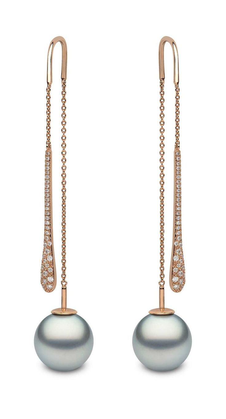 Black Pearls: Green And Blue Tahitians Are The New Black Black Pearl  Earringsrose Gold