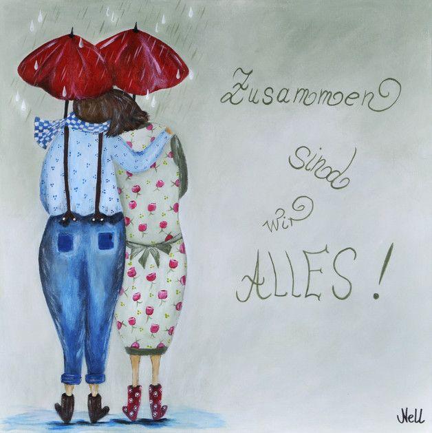 Postkarte! Zusammen sind wir alles! – Illustrationen – Illustrationen – Mit Liebe handgemacht in Issum, Deutschland von BildervonNELL | Postkarte!Eige…