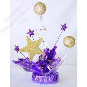 diy star themed centerpiece | ... item str04q price $ 19 50 select gold star balls silver star balls 1st