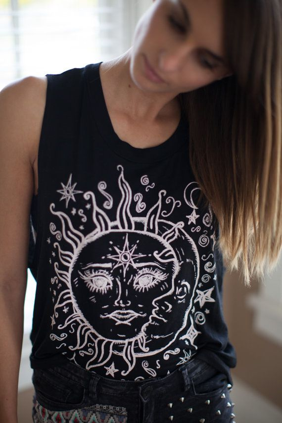 Sun and Moon Lover Shirt by WouldClothing on Etsy, $17.00