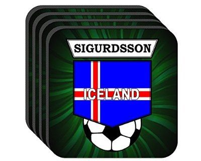 Gylfi Sigurdsson (Iceland Euro 2016) Soccer Set of 4 Coasters