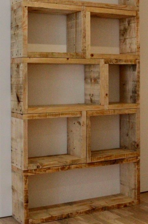 Wooden Pallet Bookcase for a studio/office space